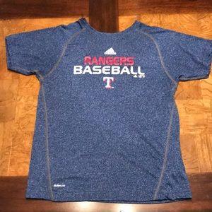 Texas Rangers baseball fan shirt.